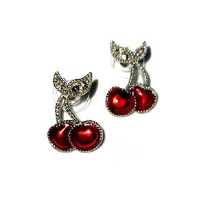Vintage jewelry, Avon Cherry stud earrings